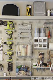 Pegboard Garage Pegboard Storage Wall The Creativity Exchange