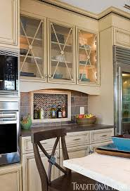 Kitchen Cabinet Door Glass Inserts Distinctive Kitchen Cabinets With Glass Front Doors Traditional Home