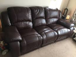 2 Seater Leather Recliner Sofa by Harvey U0027s 3 Seater And 2 Seater Dark Brown Leather Recliner Sofa