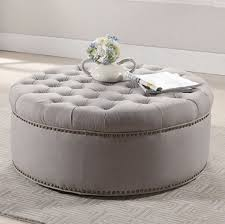top 7 beige round tufted cocktail ottomans for stylish living room