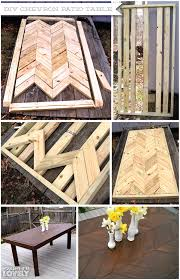 Diy Patio Table Top Diy Chevron Patio Table Wouldn T It Be Lovely
