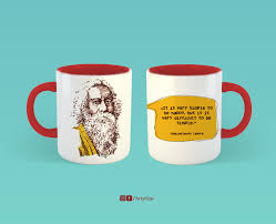 Creative Coffee Mugs Buy Designer Rabindranath Tagore Quote Mugs Artykite