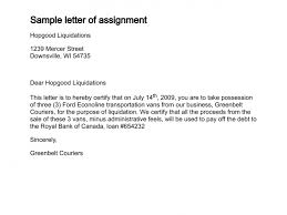 Business Letter Format For Loan Letter Of Assignment