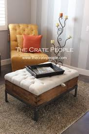 Coffee Table Storage by Best 20 Tufted Ottoman Coffee Table Ideas On Pinterest Ottoman