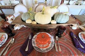 peonies and orange blossoms fall table decor using natural
