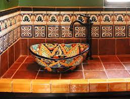 Hacienda Decorating Ideas Superb Mexican Tiles Convention Mediterranean Bathroom
