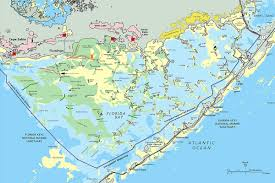 Florida Usa Map by Everglades National Park
