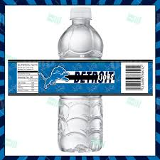 Detroit Lions Home Decor by Sports Invites Detroit Lions Football Bottle Labels