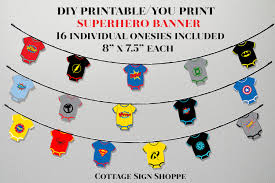 instant download baby shower invitations superhero baby shower superhero baby superhero banner instant