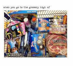 Grocery Meme - grocery shopping when high af funny weed memes