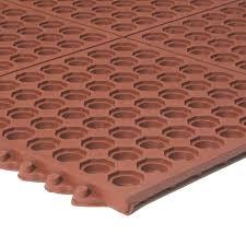 apache mills 3 u0027 x 3 u0027 red interlocking anti fatigue kitchen floor mat
