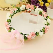 bridal garland 1pcs girl flower crown headband wedding prom
