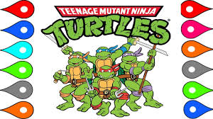 teenage mutant ninja turtles coloring pages learn colors