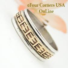 American Wedding Rings by Navajo Silver Wedding Band Rings Four Corners Usa Online