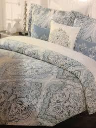 amazon com tahari home blue slate king duvet cover set paisley