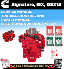 cummins signature isx qsx15 service manual troubleshooting