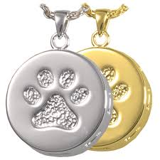 pet ashes jewelry wholesale pet cremation jewelry paw print and bones urn pendant