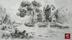 28 easy house drawing simple drawing of house how to draw and shade a simple landscape for beginners with pencil