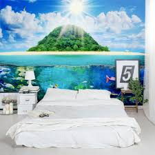 astounding wall murals bedroom ideas pics ideas surripui net island sea life removable bedroom mural large size