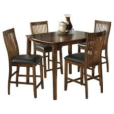 Piece Stuman Rectangular Dining Room Counter Table Set Brown - Countertop dining room sets