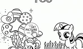 my little pony birthday coloring page my little pony birthday coloring pages timykids