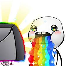Puke Meme - real rainbow puke hd puking rainbows know your meme