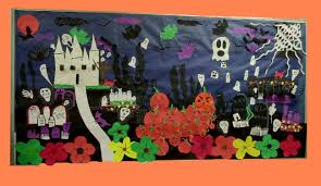 halloween bulletin board idea crafts and worksheets for