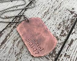 Personalized Dog Tag Necklaces Dog Tag Necklace Etsy