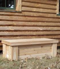 useful deck bench storage box plans dream workhome