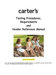 carter u0027s testing procedures requirements u0026 vendor reference