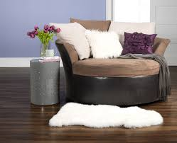 Oversized Chair With Ottoman Styles Circle Ottoman With Storage Cuddler Chair Brown