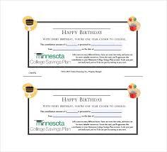 birthday gift certificate templates u2013 17 free word pdf psd