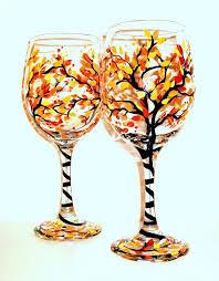 25 unique fall wine glasses ideas on painting on wine