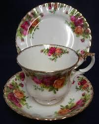 country roses tea set vintage royal albert country roses porcelain tea set trio