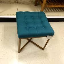 fresh blue tufted round ottoman design ideas 9679