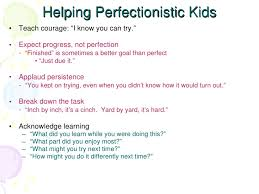 perfectionism blessing or burden