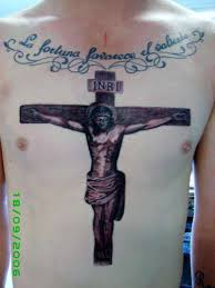 religious jesus on cross tattoo on chest tattoos book 65 000