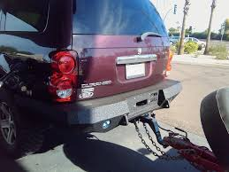 2004 2006 dodge durango rear base bumper u2013 iron bull bumpers