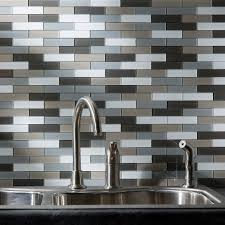 peel and stick tiles for kitchen backsplash amazon com aspect peel and stick backsplash 12 5in x 4in subway