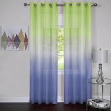 Sheer Window Treatments Rainbows And Sunshine Ombre Sheer Window Curtain Panel 52