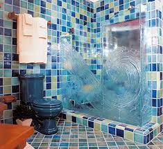 decorative glass shower doors love the idea of a glass wave shower door would be great for a