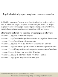 Sample Electrical Resume by Download Electrical Project Engineer Sample Resume