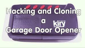 garage door key fob 44 hacking and cloning a garage door opener using sdr radio youtube