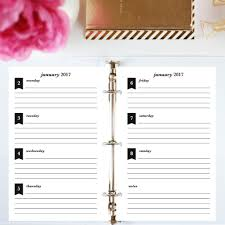 printable planner notes 2017 printable planner half letter horizontal lined jessica