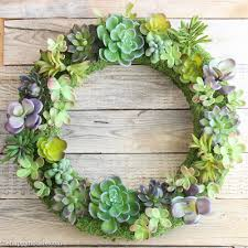 succulent wreath pottery barn knock faux succulent wreath the happy housie