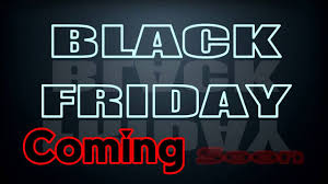 black friday is coming black friday coming soon neon video graphic element youtube