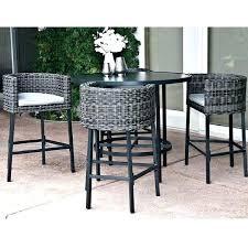 high table patio set high top table with stools agnudomain com