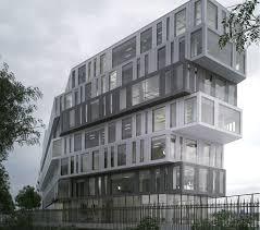 immeuble de bureau immeuble de bureaux strato arcora detail facade