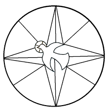 stained glass dove coloring page