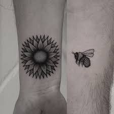 30 couple tattoo ideas sunflowers symbols and bees